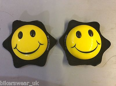 MOTRAX Motorcycle/Motorbike Knee Protection Slider Smiley face Yellow  As Pair