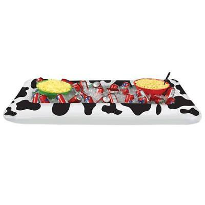 Cow Print Inflatable Buffet Cooler Western Farm Ranch Party Supplies