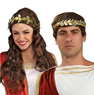 Gold Leaf Crown Or Headband Metal Fancy Dress Accessory