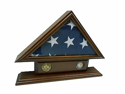 5'x9' Flag Case for Veteran / Funeral / Burial Flag - With Name Tag and 2 Coin
