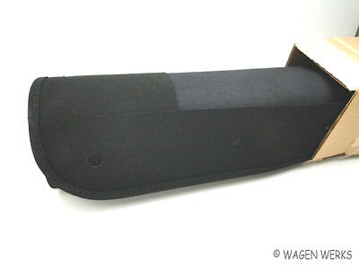 VW Bug Cloth Ragtop Sunroof Cover -  1957 to 1963 Black Canvas