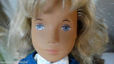 "Vintage Sasha Blond Blue Eye Doll 16"" 115S In Jumper White Shoes Trenton England"