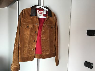 Levi's leather Suede Jacket Slim Fit Trucker SIZE M