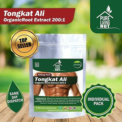Tongkat Ali Root Extract 200:1 - Testosterone, Gains, Strength, BodyBuilding
