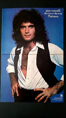 """Gino Vannelli """"brother To Brother"""" 1978, Rare Original Print Promo Poster Ad"""