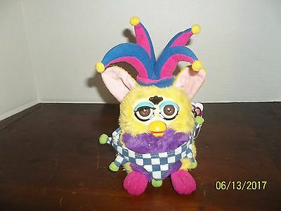 1999 Tiger Electronics Yellow Jester Clown Furby Plush Works