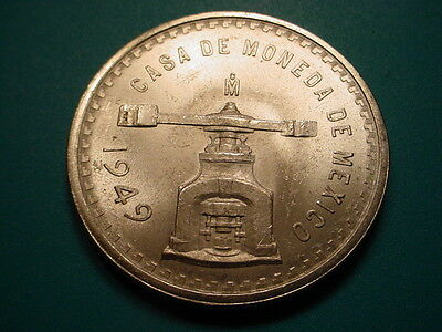 Mexico~Silver 1949 1-Onza in Brilliant Uncirculated Condition!