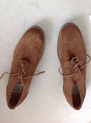 Sole Men's Brown Suede Brogues Size 44