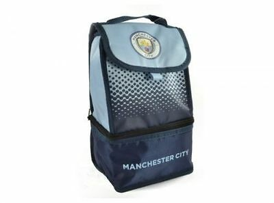 Manchester City Fc 'Fade' Dual Compartment Football Premium Lunch Bag Official