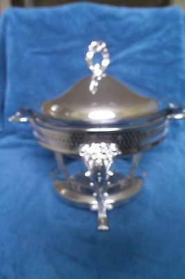 Silver-plated Chafing Dish with an Ovenproof Glass Insert