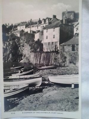 a Vintage RP Postcard A Corner Of The Harbour Port Isaac