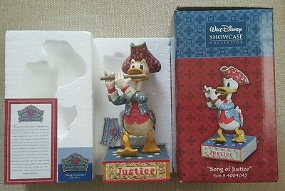 2005 Walt Disney Showcase SONG OF JUSTICE Donald Duck Figure - Jim Shore Design