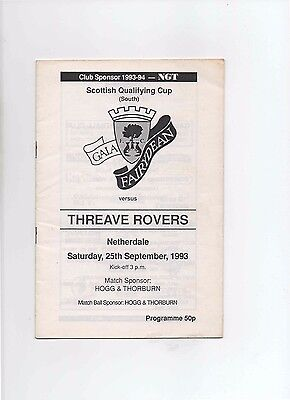 93/94 Gala Fairydean V Threave Rovers (Scottish Qualifying Cup)(South)