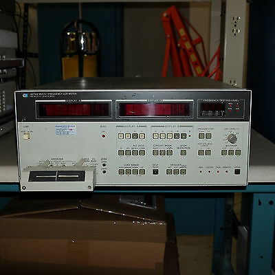 HP 4275a Multi-frequency LCR meter, w/ rare direct test fixture, GPIB
