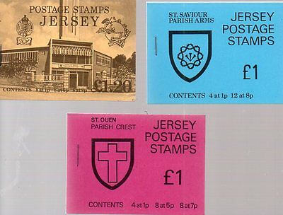3 jersey stamp booklets, 2 at a £1 and a £1.20p all stamps mnh