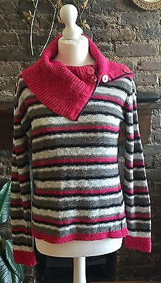 Per Una Button Neck Jumper, Medium (approx size 12)