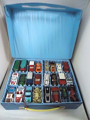 Match Box Lesney Lot Of 48 Die Cast Vehicles With Storage Case
