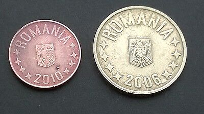 Lot Romania  50 Bani 2006,5 Bani 2010 2 coins