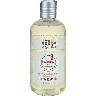 Natures Baby Organics Bubble Bath - Moisturizing - Lovely Lavender - 12 oz