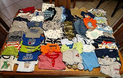 Huge 75pc. Lot Infant Baby Boy Clothes Size Newborn to 0-3 month Great condition