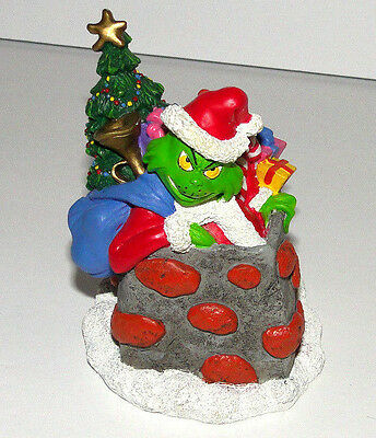 Dr Seuss The Grinch That Stole Christmas Figure Figurine in Chimney 2000