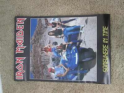 Iron Maiden Autographed Poster