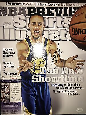 Stephen Curry Signed 11X14 Sports Illustrated Photo Warriors Nba Champs Jsa Coa!