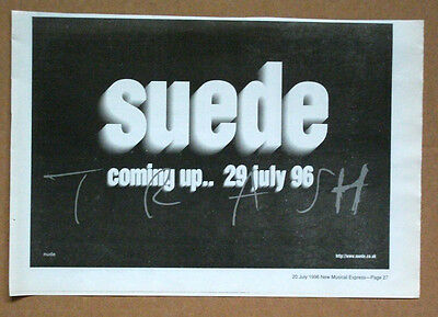 suede - TRASH - 1996 NME Music Trade Press ADVERT POSTER 8 x 12