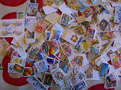 1000 Mostly Australian Stamps Off Paper approximately, exactly as Donated