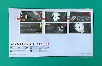 Agatha Christie First Day Cover Souvenir 6 STAMPS Royal Mail 2016