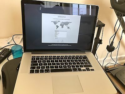 Apple Macbook Pro RETINA 15 2.0 GHz i7 8GB RAM, 128GB SSD A1398 2013 Model