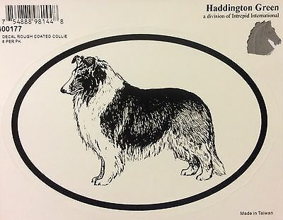 New! Haddington Green Rough Coated Collie Decal
