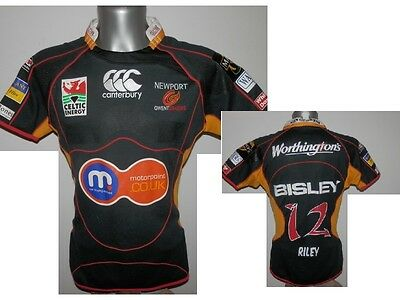 RFC Newport Gwent Dragons Rugby Riley #12 Magners League Shirt Jersey size -  L