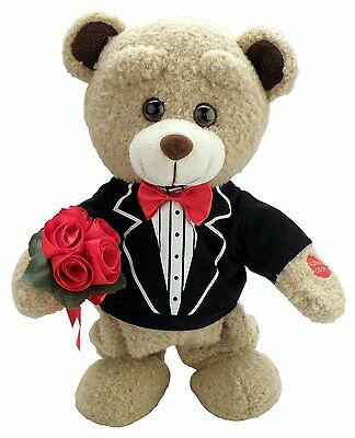 """Chantilly Lane """"Tuxedo Teddy"""" Sings """"How Sweet It Is To Be Loved by You"""" Plush,"""