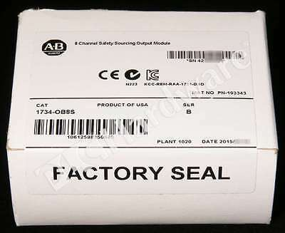 New Sealed Allen Bradley 1734-OB8S /B 1734-0B8S POINT Safety Sourcing Output Qty