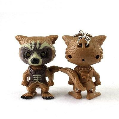Guardians of the Galaxy Rocket Raccoon Led Light + Sound Action Figure Keyring
