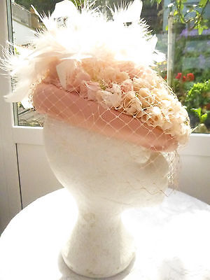 Victorian Style Small Salmon Pink Hat