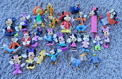 Vintage Lot of  Disney Characters mickey,minnie ,goofy PVC  Toys  25 pc total