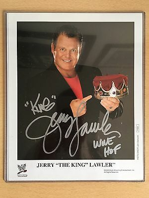 WWE WWF Signed Jerry The King Lawler 8x10