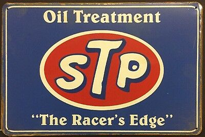 STP Oil Treatment Vintage Retro Metal Sign Garage Bar Studio Wall Decor Plaque