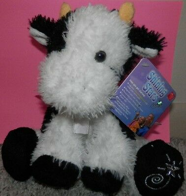 black & white Cow Plush Shining Stars Russ Berrie New with Tags