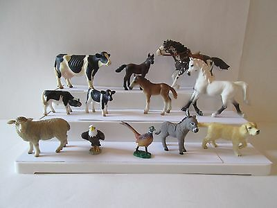 12 pc lot 9 Schleich 3 other Horses colts foals cow calves sheep donkey dog