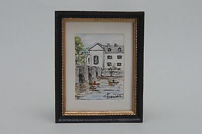 Dolls House 1/12 Scale Original Water Colour Painting in Frame