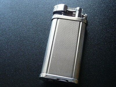 DUNHILL  'UNIQUE' LIGHTER - SILVER PLATED with Vertical Lines