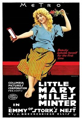 Actress Mary Miles Minter Emmy Of Storks Nest Silent Movie Poster Version 1