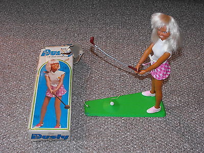 """1974 Kenner 11.5"""" Dusty the Golf Champion Doll with Original Box"""