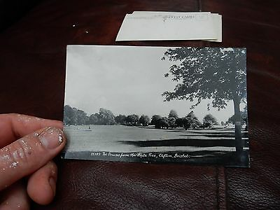 Real Photo postcard-Downs from The White Tree -  Clifton Bristol Avon