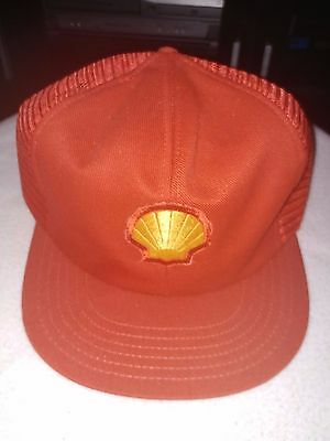 Vintage Shell Gas Station Mesh Trucker Hat Snapback