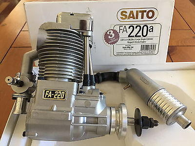 SAITO FA-220a Four Stroke Nitro Engine Vintage Collectors Item Gas RC Airplane