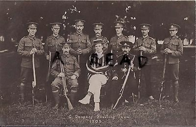 Soldier Group G Company Middlesex Regiment Shooting Team 1909
